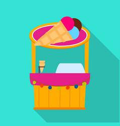 Design kiosk and cart logo collection vector