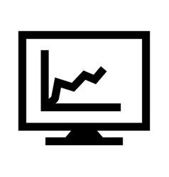 diagram on screen glyph black icon vector image