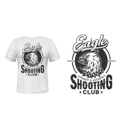eagle t-shirt print mockup shooting sport club vector image