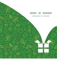 ecology symbols Christmas gift box silhouette vector image