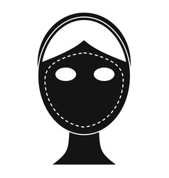 Face marked out for cosmetic surgery icon vector