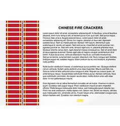 Fire Crackers for Chinese New Year vector image