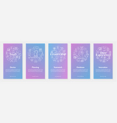 five vertical banners - device planning vector image