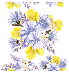 flower seamless pattern with flowers vector image