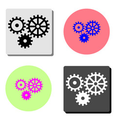 gear machinery flat icon vector image