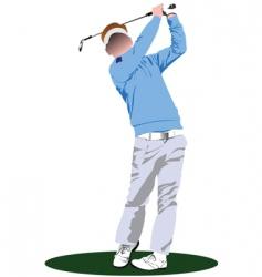 golfer stencil vector image