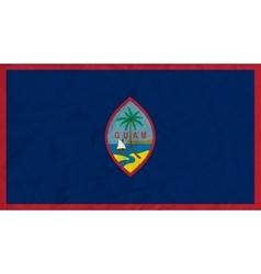 Guam paper flag vector image