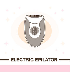 Hair removal electric epilator device vector