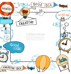 hand drawn creative idea concept vector image