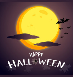 happy halloween message graphic design background vector image