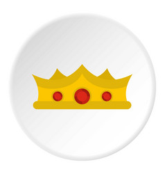 king crown icon circle vector image