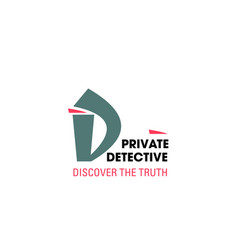letter d icon detective agency vector image