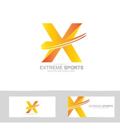 Letter X extreme logo vector image
