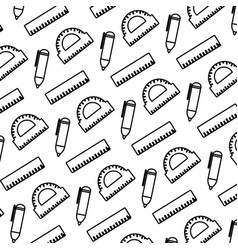 line education school utensils style background vector image