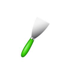 metal spatula with green handle vector image