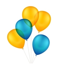 Multicolored Colorful Balloons vector image