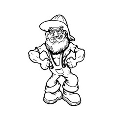 muscular old man cartoon character vector image