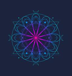 Mystical occult symbol vector