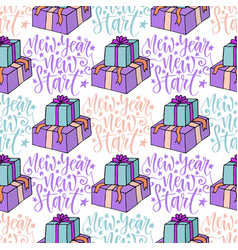 New year new start seamless pattern with vector