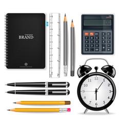 office supplies realistic alarm clock vector image