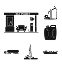 oil and gas sign set of vector image