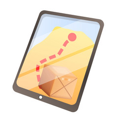 parcel online tracking icon cartoon style vector image