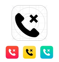 Phone call cancel icon vector