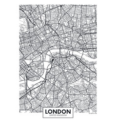 Poster map city london vector