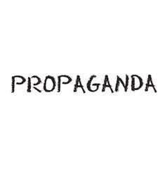 Propaganda stamp in italian vector