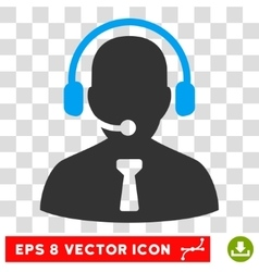 Reception operator eps icon vector