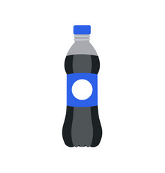 Refreshing drink in plastic bottle vector