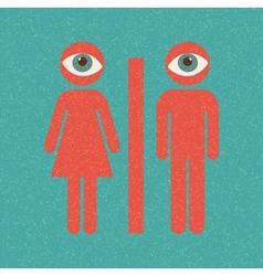 Restroom retro poster vector image