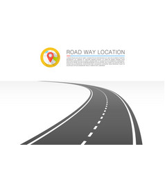 Road goes into the horizon vector
