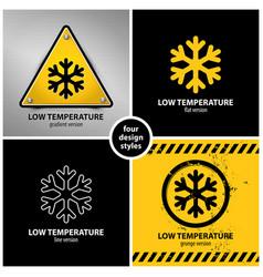 Set low temperature warning symbols vector