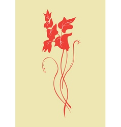 simple flower graphic vector image