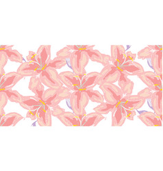 soft seamless floral pattern beautiful lily vector image