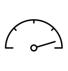 speedometer line icon simple minimal pictogram vector image