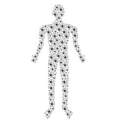 Spider human figure vector