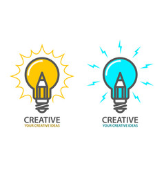 Symbol of creative idea - light bulb icon vector