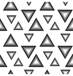 The pattern of black and white triangles vector image
