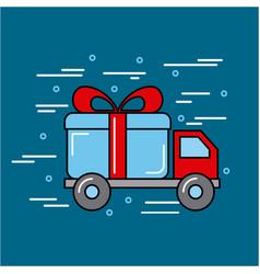 transport global logistic cartoon vector image