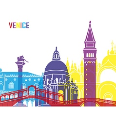 Venice skyline pop vector