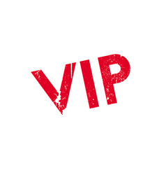 vip rubber stamp vector image
