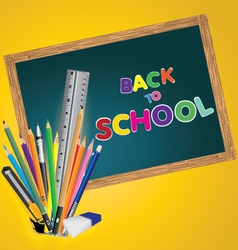 Welcome back to school Board with object tool for vector image