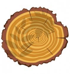 wooden cut vector image vector image