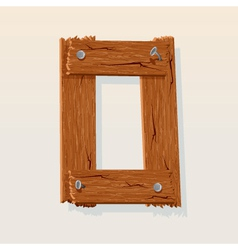 wooden letter o vector image