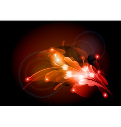 abstract flower red vector image