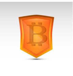 bitcoin orange emblem vector image vector image