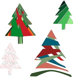 Colorful Christmas trees vector image vector image