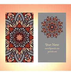 decorative card vintage one vector image